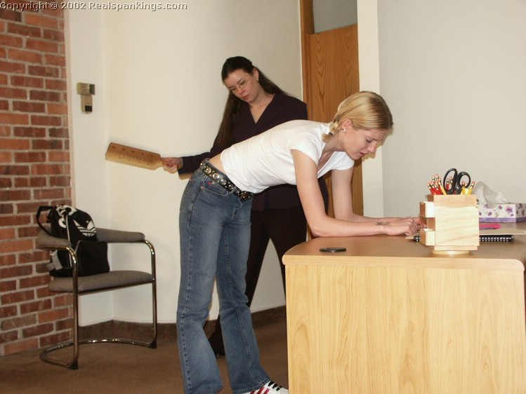 Realistic corporal punishment paddling at school 9