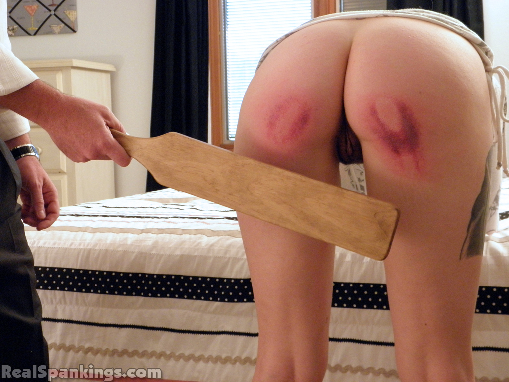Spank my ass with paddle