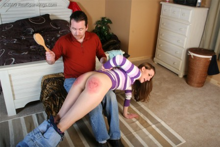 Taken OTK for a spanking she will never forget.