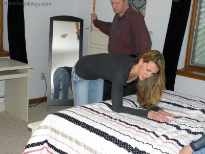 bruising her bottom spanking