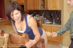Paddling spanking from dad