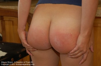 a sore bottom from being spanked