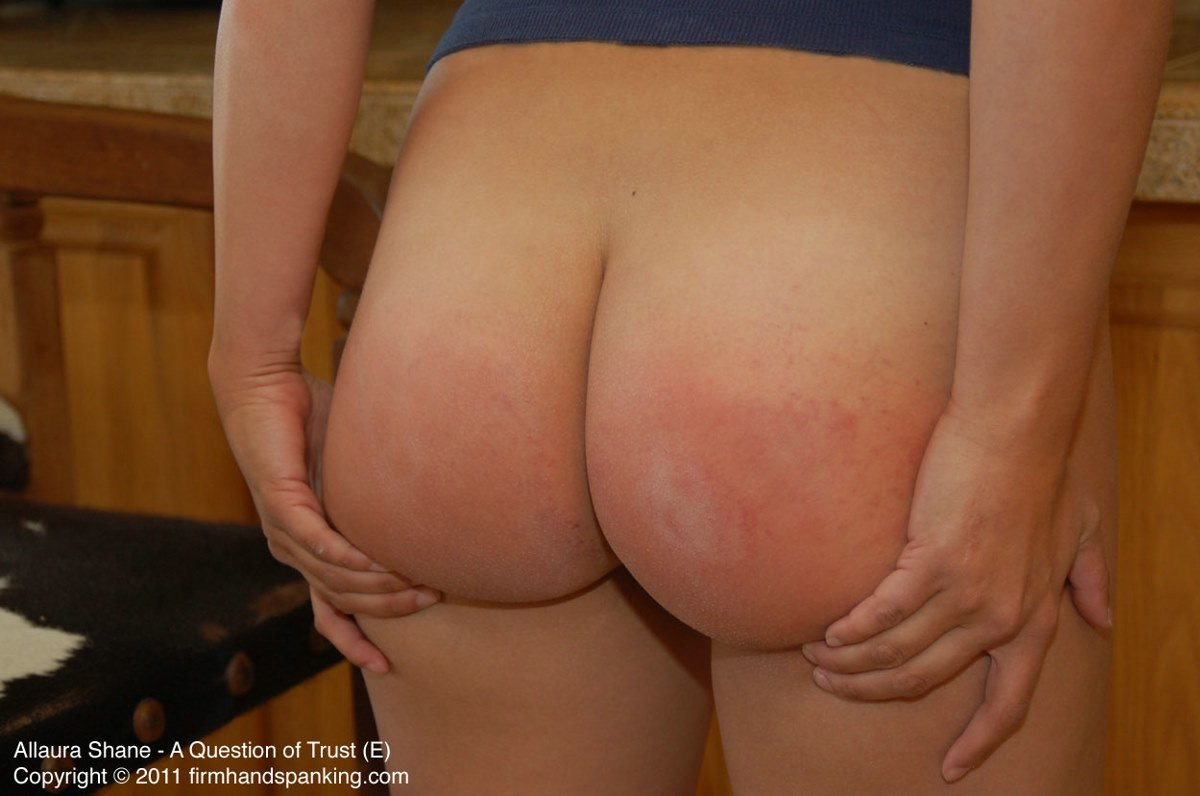 spanked her bare bottom
