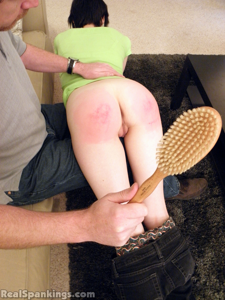 Over the knee spank