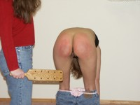 corporal punishment paddling from mom