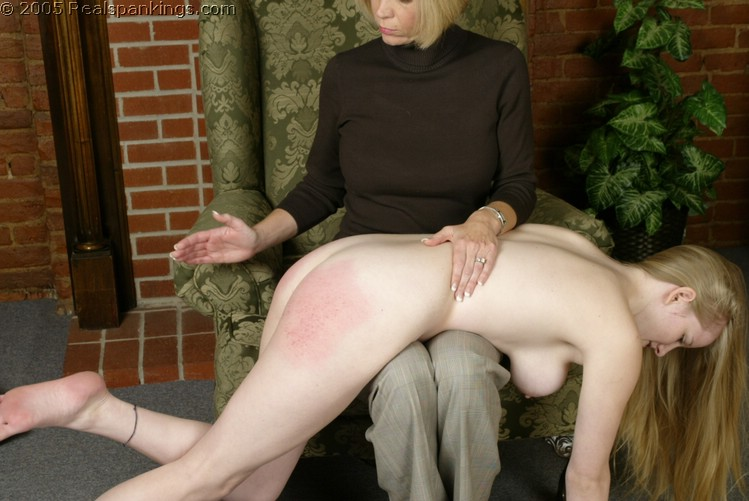 Naked woman spanking boys