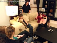 teen girl spanked in front of friends