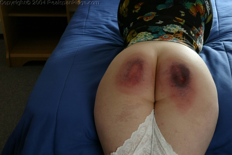Was and Bare bottom rubbing after spanking something