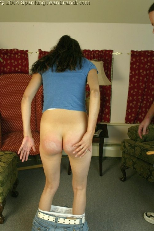 3 very hard swats of the slipper for nude girlfriend 9