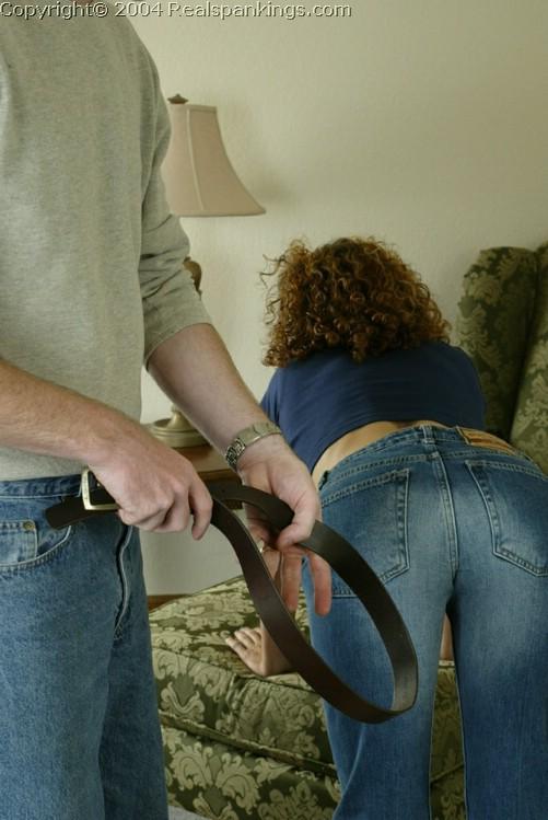 Leather strap spank