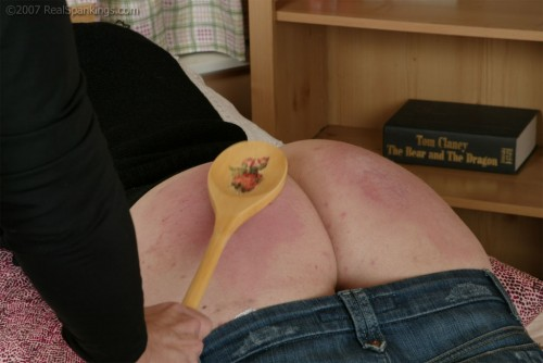 mom spanks with a spoon