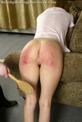 hairbrush spanking of daughter