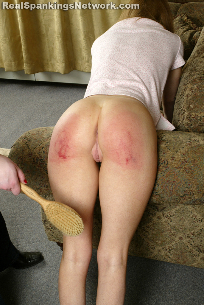 Spanked with hairbrush