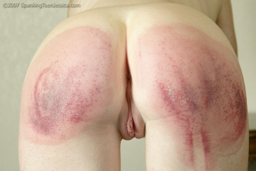 severe hairbrush spanking from mom