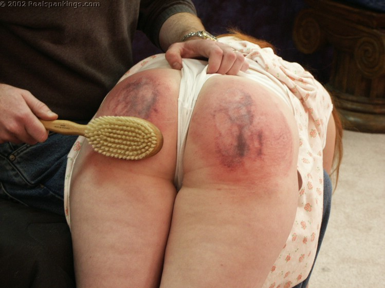 spank with brush