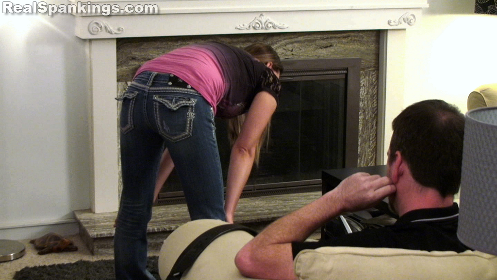 Girl punishment paddle spank video
