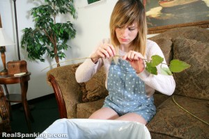 cleaning a switch for her spanking